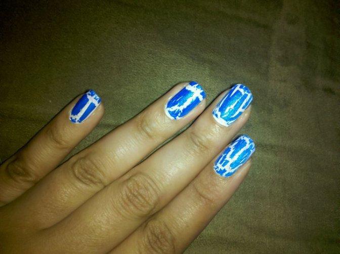 Mystique (Classic costume) Inspired Nails!