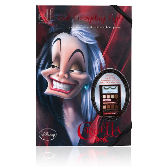 e.l.f. Disney Villainous Villains Makeup Book Cruella de Vil Evil Everyday Eyes Review!