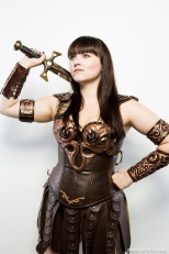 Xena Cosplay, Model: Bernadette Bentley, Makeup: Me, Photographer: Greg De Stefano