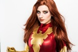 Dark Phoenix Cosplay, Model: Amanda Lynne Shafer Makeup: Me, Photographer: Greg De Stefano