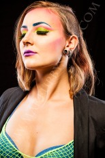Makeup inspired by the New Romantics movement in the 80s. Model: Zee Lustrum, Makeup: Dawnielle Banks/Make Up By Siryn, Photo: Greg De Stefano