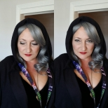 Emperor Palpatine Pinup Makeup on Client for Wonder Con, April 2015