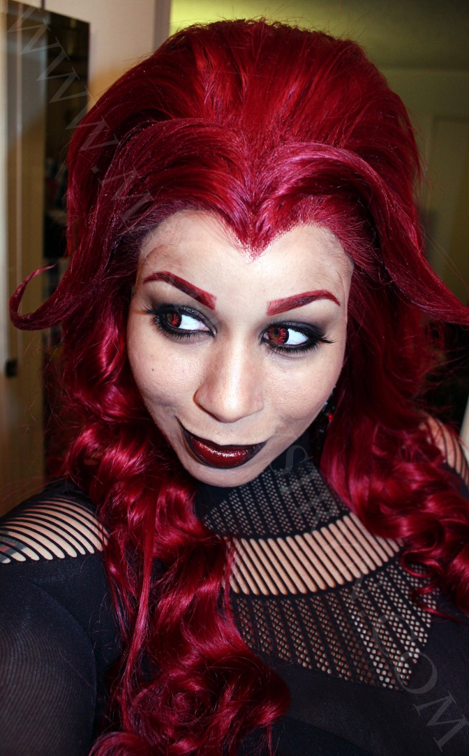Satana Hellstrom Inspired Makeup and Pinky Paradise Review!