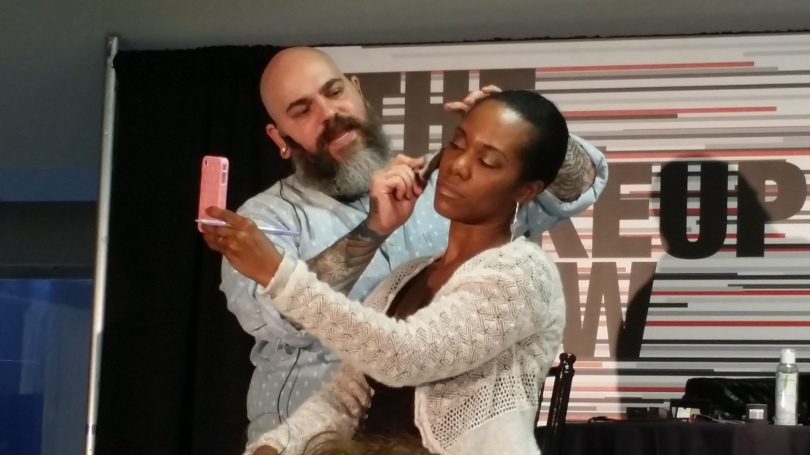 James Vincent demoing the unreleased Nars Contour Blush on Olympia and how it can work on different skin tones.