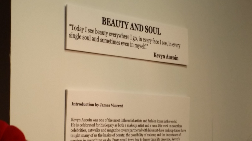 Quotes from Kevin where scattered throughout the exhibit.
