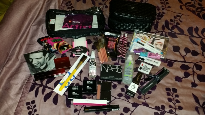 This is what we got in the bag! I forgot to get close up picture of the Make Up For Ever HD Blush and HD Pressed Powder!