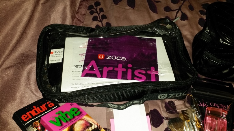 Zuca bag for makeup storage.