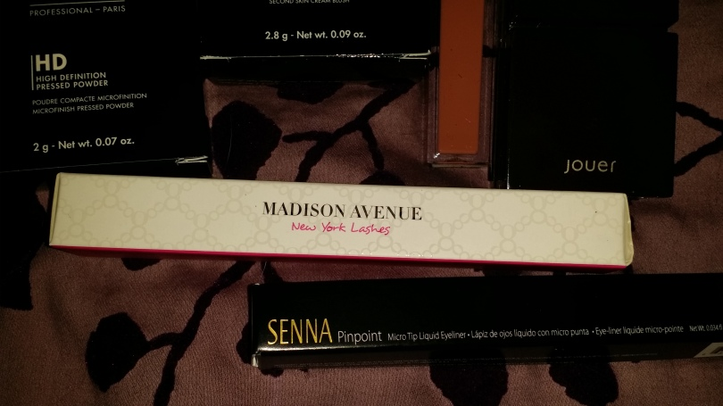 Gorgeous Cosmetics Mascara, and Senna liquid pen liner.