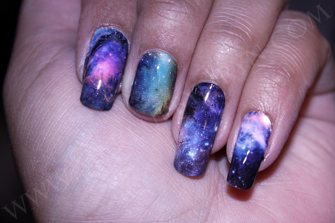 "Espionage Cosmetics ""Nailed It!"" Nebula Nail Wraps Review!"