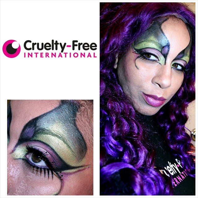 Evil Fairy Halloween Tutorial for Cruelty Free International! (Video)